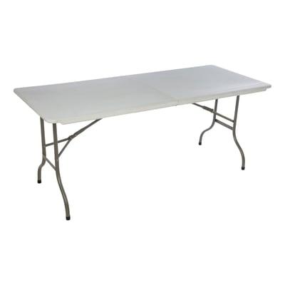 Offerte Gambe Pieghevoli Per Tavoli.Tavolo Da Pranzo Per Giardino Rettangolare In Acciaio L 75 X