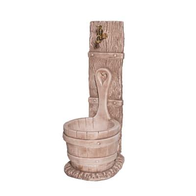 Fontana a colonna Mastello in calcestruzzo H 79 cm, 29 x 37 cm