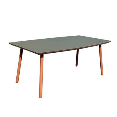 Tavolo da giardino rettangolare Malibu con piano in vetro L 100 x P 180 cm