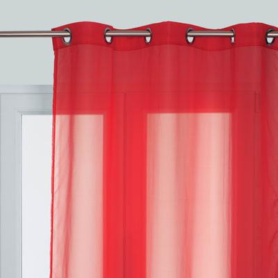 Tenda Essential rosso occhielli 140x280 cm