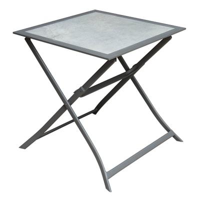 Tavolo da giardino rettangolare Itaca con piano in acciaio L 70 x P 69 cm