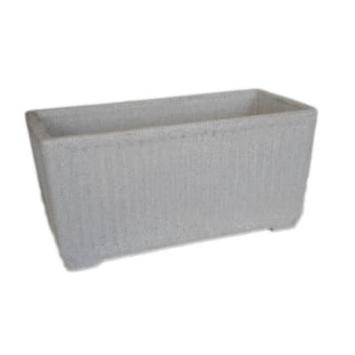Fioriera Granito Doppia Parete in plastica colore grigio H 29 cm, L 78 x P 29 cm