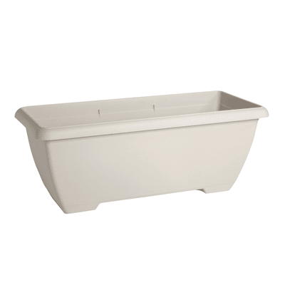 Fioriera Terrae in plastica colore bianco H 38.5 cm, L 100 x P 43 cm