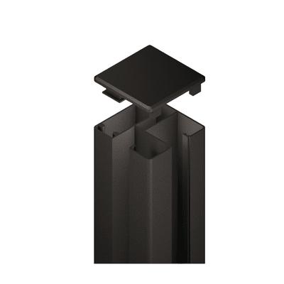 Palo in acciaio galvanizzato Krystal angolare H 105 cm