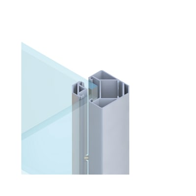 Palo in acciaio galvanizzato Krystal angolare H 192.5 cm