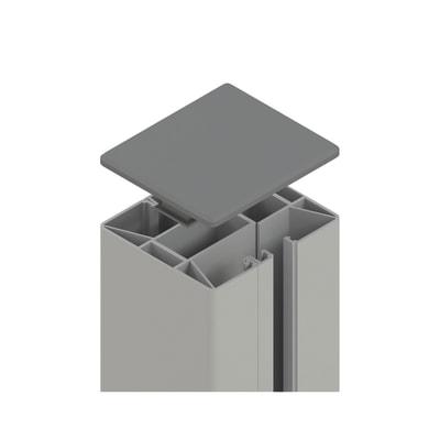 Palo in acciaio galvanizzato Krystal H 192.5 cm