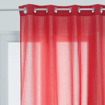 Tenda di pizzo INSPIRE Flavina rosso occhielli 140x280 cm