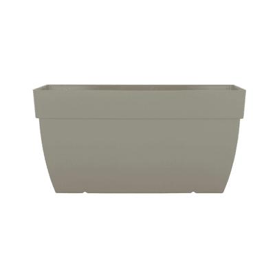 Cassetta portafiori Capri ARTEVASI in polipropilene colore tortora H 35 cm, L 60 x P 35 cm