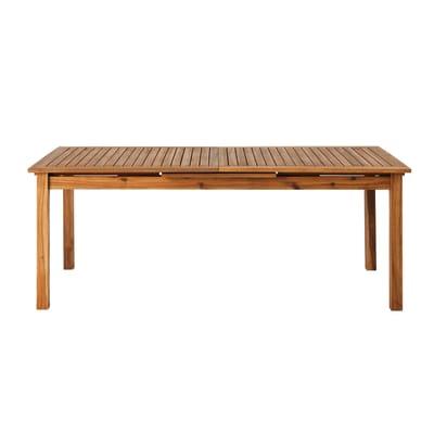 Tavolo da giardino allungabile rettangolare Porto NATERIAL in legno L 200 x P 100 cm