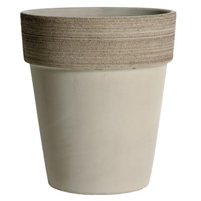 Vaso Alto Vulcano in terracotta colore grigio H 45 cm, Ø 40 cm