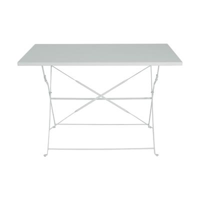Tavolo da giardino rettangolare Color con piano in acciaio L 70 x P 110 cm
