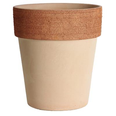 Vaso Alto graffiato in terracotta colore impruneta H 30.5 cm, Ø 27 cm