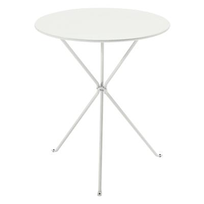 Tavolo da giardino rotondo Gueridon con piano in acciaio Ø 60 cm