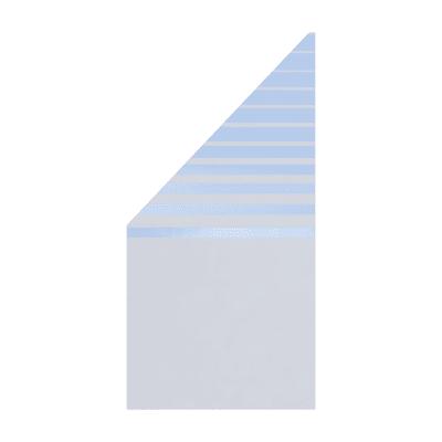 Pannello in vetro temperato Krystal modello Beta 90 x 180 cm