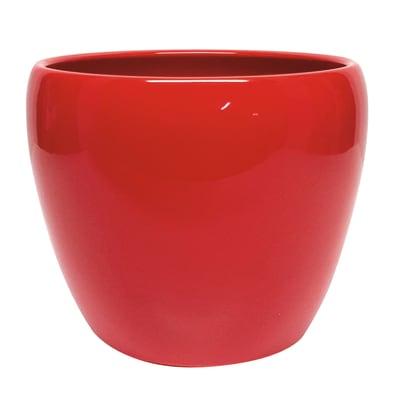 Portavaso Stella in ceramica colore rosso H 26.9 cm, Ø 32 cm
