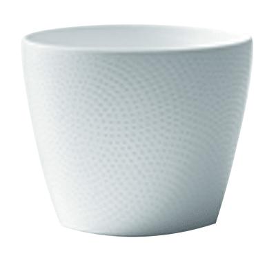 Portavaso Ion ALMAS S.A. in ceramica colore bianco H 16 cm, Ø 19 cm