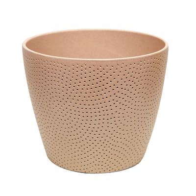 Portavaso Ion ALMAS S.A. in ceramica colore sabbia H 14 cm, Ø 17 cm