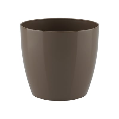 Vaso Sanremo ARTEVASI in polipropilene colore tortora H 7.5 cm, Ø 9 cm