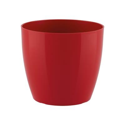 Vaso Sanremo ARTEVASI in polipropilene colore rosso H 7.5 cm, Ø 9 cm