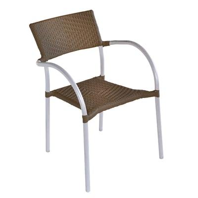 Sedia in alluminio CC 38N colore marrone