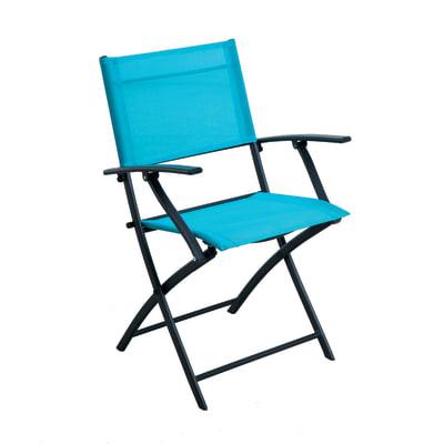 Sedia in acciaio NATERIAL colore blu