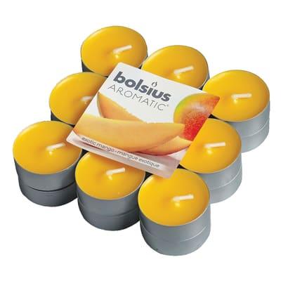 Candela profumata BOLSIUS essenza mango  Ø 3.1 cm H 3.1 cm, 18 pezzi