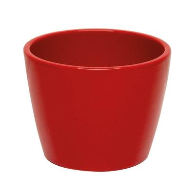 Portavaso Stella in ceramica colore rosso H 29.2 cm, Ø 35 cm