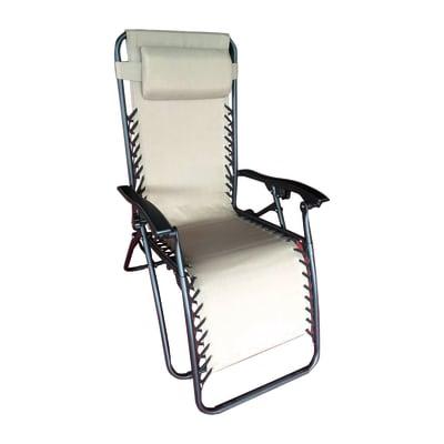 Sedia a sdraio pieghevole Firenze in acciaio grigio