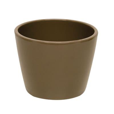 Portavaso Stella in ceramica colore tortora H 25.4 cm, Ø 29 cm