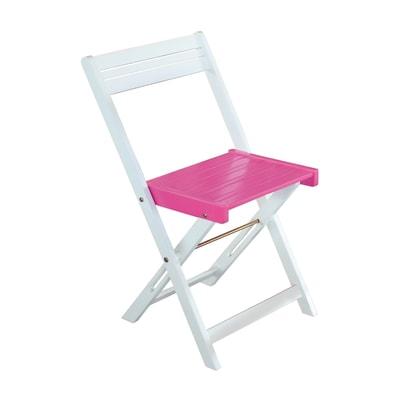 Sedia da giardino senza cuscino Balcony colore rosa