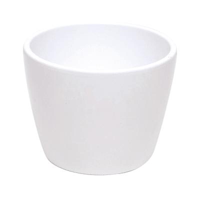 Vaso Stella in ceramica colore bianco H 6.4 cm, Ø 8 cm