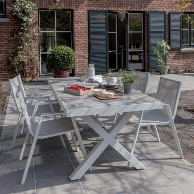 Tavolo rettangolare Vittoria NATERIAL in alluminio L 90 x P 185 cm