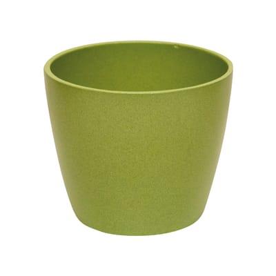 Portavaso Spring ALMAS S.A. in ceramica colore verde H 14 cm, Ø 17 cm