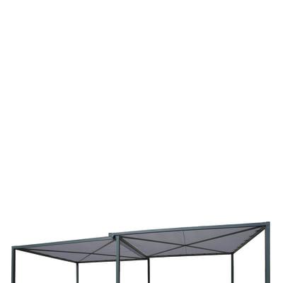 Tela in poliestere Kiki grigio 290 x 290 cm