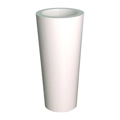 Vaso Iliade in polietilene colore bianco H 67 cm, Ø 32 cm