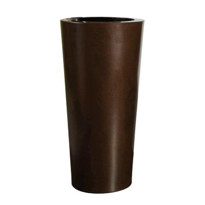 Vaso Iliade in plastica colore ruggine H 67 cm, Ø 32 cm