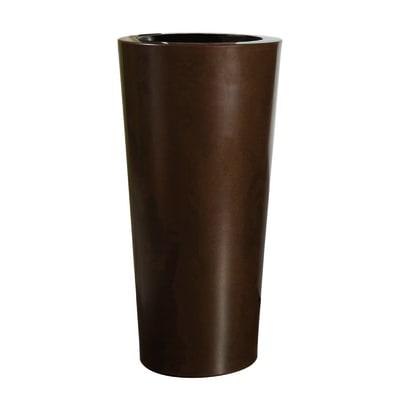 Vaso Ilie Gloss EURO3PLAST in plastica colore ruggine H 75 cm, Ø 37 cm