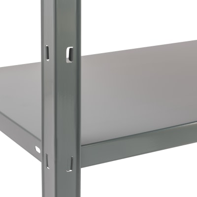 Scaffale in metallo in kit Clicker L 90 x P 40 x H 187 cm grigio antracite