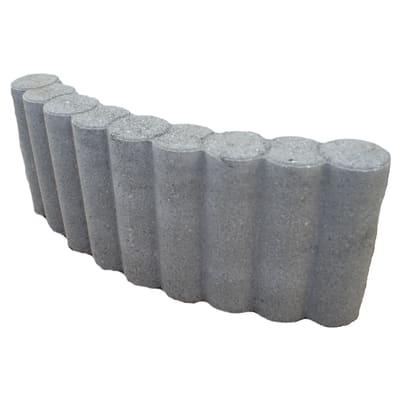 Cordolo in calcestruzzo grigio L 52.5 x H 20 cm Sp 6.5 cm