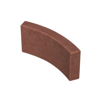 Cordolo in calcestruzzo rosso Liscio L 52.5 x H 20 cm Sp 5 cm