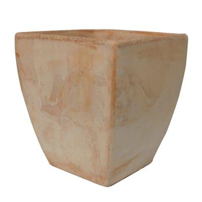 Vaso Liscio in terracotta colore impruneta H 20 cm, L 15 x P 15 cm