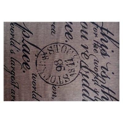 Tappeto Cottage poesia beige e nero 230x160 cm
