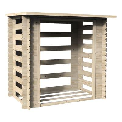 Legnaia in legno DECOR ET JARDIN BÜCHES 1,90 x 1,20M L 190 x H 184 x P 118 cm trasparente