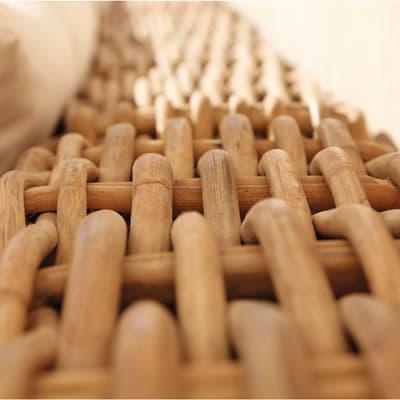 Divano NATERIAL Bora in rattan sintetico colore marrone e bianco 2 posti