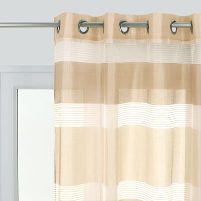 Tenda Stripe ecru occhielli 140x280 cm