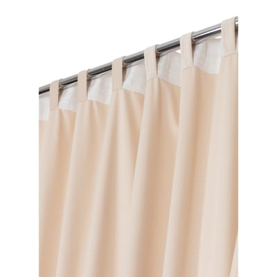 Tenda Misty ecru arricciatura con passanti nascosti 135x280 cm