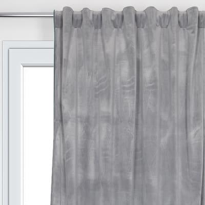 Tenda Misty grigio fettuccia con passanti nascosti 135x280 cm