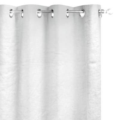 Tenda INSPIRE Lino bianco anelli 140 x 280 cm