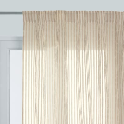 Tenda Motu beige fettuccia con passanti nascosti 140 x 290 cm