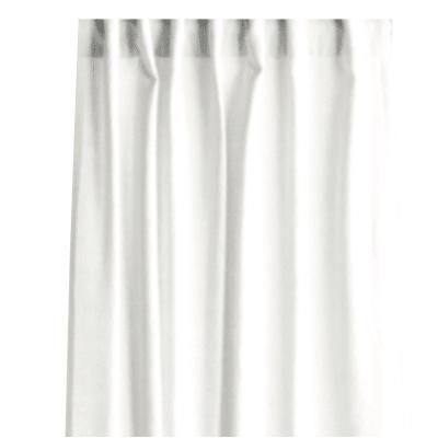 Tenda INSPIRE Lino bianco fettuccia con passanti nascosti 140 x 280 cm